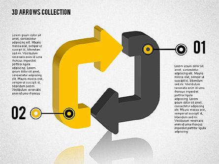 Cycling Arrows Shapes, Slide 4, 02040, Shapes — PoweredTemplate.com