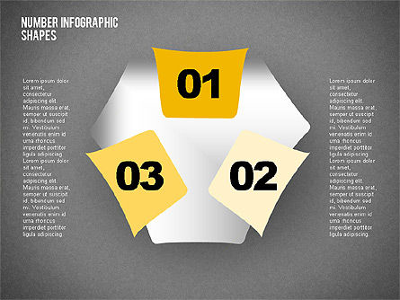 Shapes with Numbers, Slide 15, 02041, Shapes — PoweredTemplate.com