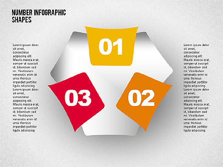 Shapes with Numbers, Slide 7, 02041, Shapes — PoweredTemplate.com