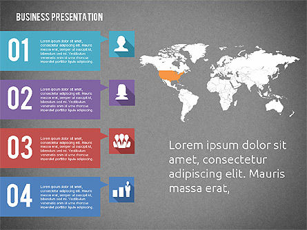 Business Presentation with Hints, Slide 12, 02042, Business Models — PoweredTemplate.com
