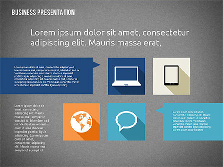 Business Presentation with Hints, Slide 16, 02042, Business Models — PoweredTemplate.com