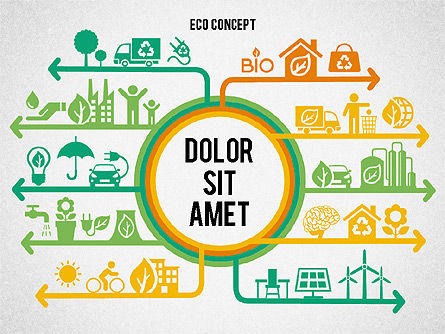 Ecology Environment Diagram, Slide 7, 02044, Business Models — PoweredTemplate.com