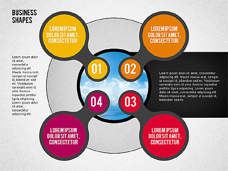 Circles with Numbers Stage Diagram Slide 2