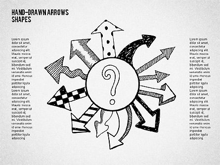 Shapes: Hand Drawn Arrows with Shapes #02047