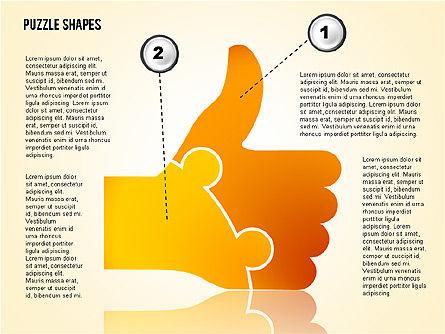 Thumbs Up Puzzle, Slide 3, 02048, Puzzle Diagrams — PoweredTemplate.com