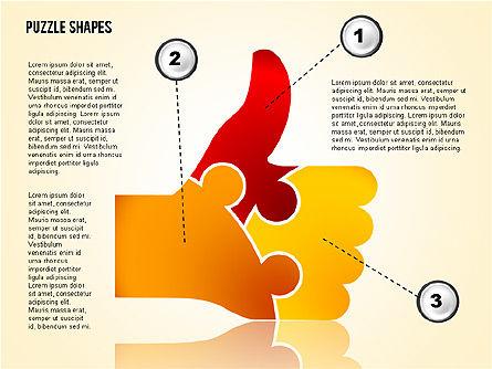 Thumbs Up Puzzle, Slide 4, 02048, Puzzle Diagrams — PoweredTemplate.com