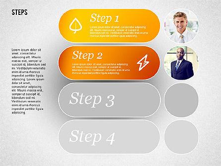 Steps with Photos Diagram Slide 2