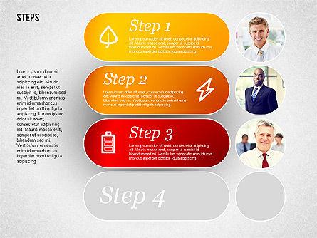 Steps with Photos Diagram Slide 3