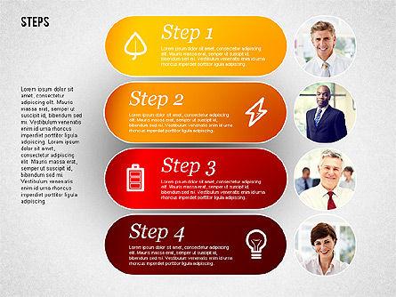 Steps with Photos Diagram Slide 4