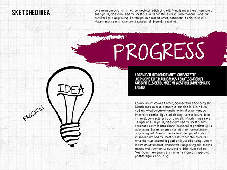 Idea Presentation in Sketch Style, 02054, Presentation Templates — PoweredTemplate.com