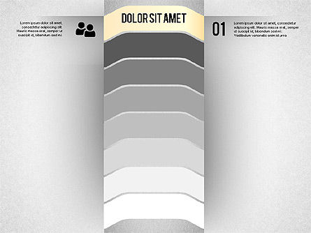 Presentation Agenda with Icons, 02058, Stage Diagrams — PoweredTemplate.com
