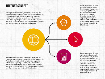 Business Models: Internet Concept in Flat Design #02060