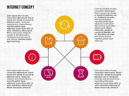 Internet Concept in Flat Design, Slide 2, 02060, Business Models — PoweredTemplate.com