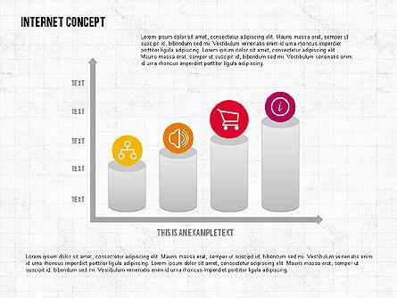Internet Concept in Flat Design, Slide 3, 02060, Business Models — PoweredTemplate.com