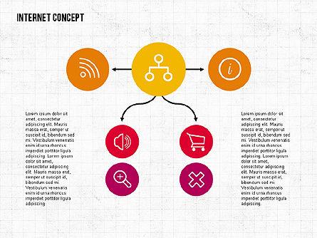 Internet Concept in Flat Design, Slide 4, 02060, Business Models — PoweredTemplate.com