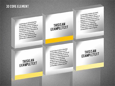 3D Core Element Diagram, Slide 10, 02061, Organizational Charts — PoweredTemplate.com