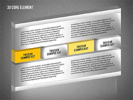 3D Core Element Diagram, Slide 11, 02061, Organizational Charts — PoweredTemplate.com