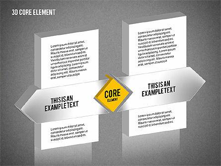 3D Core Element Diagram, Slide 12, 02061, Organizational Charts — PoweredTemplate.com