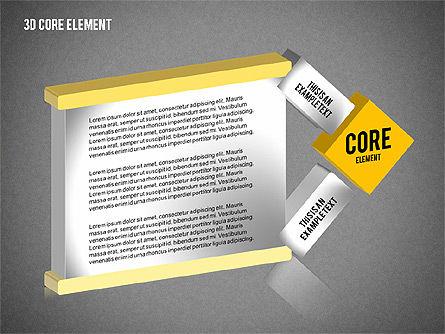 3D Core Element Diagram, Slide 13, 02061, Organizational Charts — PoweredTemplate.com