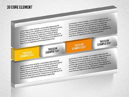 3D Core Element Diagram, Slide 3, 02061, Organizational Charts — PoweredTemplate.com
