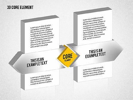 3D Core Element Diagram, Slide 4, 02061, Organizational Charts — PoweredTemplate.com