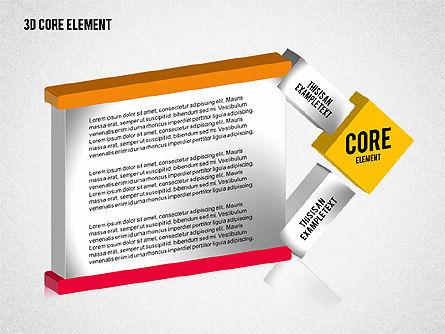 3D Core Element Diagram, Slide 5, 02061, Organizational Charts — PoweredTemplate.com