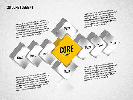 3D Core Element Diagram, Slide 6, 02061, Organizational Charts — PoweredTemplate.com