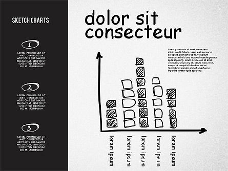 Shapes: Charts in Sketch and Chalk Style #02063