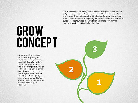 Grow Concept with Numbers, 02064, Stage Diagrams — PoweredTemplate.com