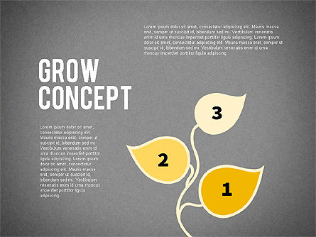 Grow Concept with Numbers, Slide 8, 02064, Stage Diagrams — PoweredTemplate.com