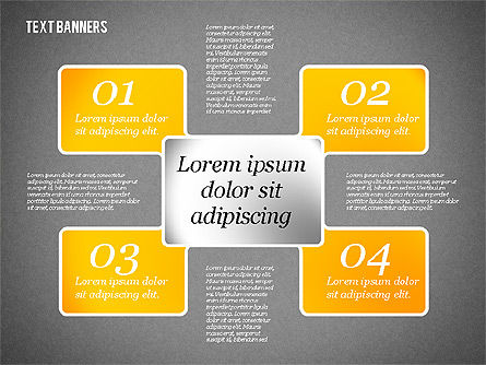 Presentation Template with Text Boxes, Slide 12, 02071, Business Models — PoweredTemplate.com