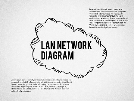 Presentation Templates: LAN Network Diagram #02073