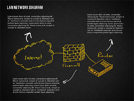 LAN Network Diagram, Slide 12, 02073, Presentation Templates — PoweredTemplate.com
