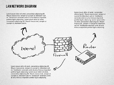 LAN Network Diagram, Slide 4, 02073, Presentation Templates — PoweredTemplate.com