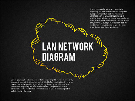 LAN Network Diagram, Slide 9, 02073, Presentation Templates — PoweredTemplate.com