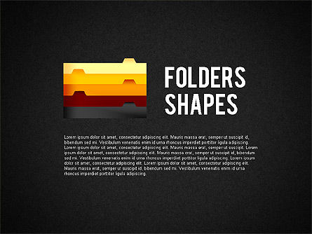 Folder Style Options with Shapes, Slide 9, 02077, Stage Diagrams — PoweredTemplate.com