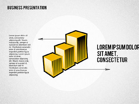 Presentation with Business Shapes, Slide 2, 02080, Business Models — PoweredTemplate.com
