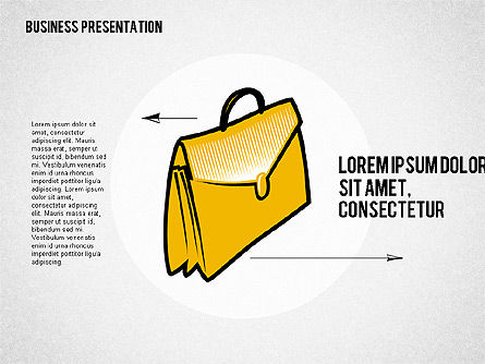 Presentation with Business Shapes, Slide 4, 02080, Business Models — PoweredTemplate.com