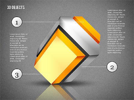 3D Composite Shapes, Slide 11, 02081, Shapes — PoweredTemplate.com