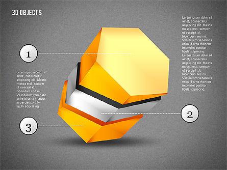 3D Composite Shapes, Slide 12, 02081, Shapes — PoweredTemplate.com