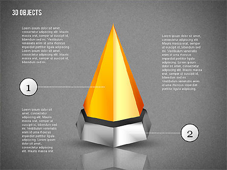 3D Composite Shapes, Slide 13, 02081, Shapes — PoweredTemplate.com