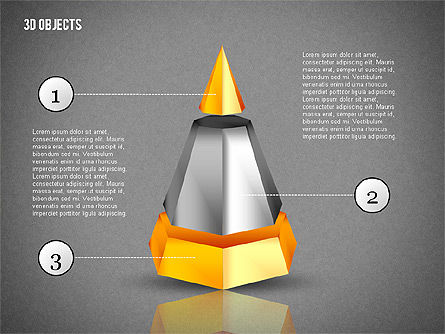 3D Composite Shapes, Slide 14, 02081, Shapes — PoweredTemplate.com