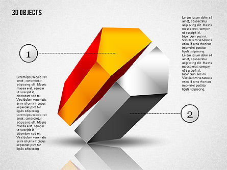 3D Composite Shapes, Slide 2, 02081, Shapes — PoweredTemplate.com