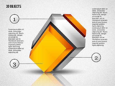 3D Composite Shapes, Slide 3, 02081, Shapes — PoweredTemplate.com