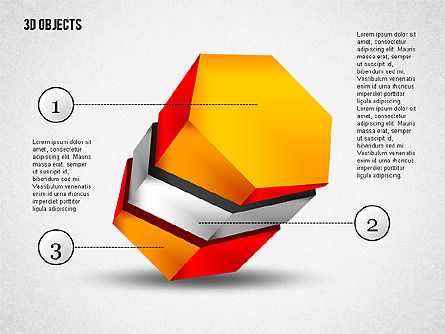 3D Composite Shapes, Slide 4, 02081, Shapes — PoweredTemplate.com
