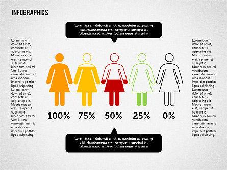 Gender Infographics, Slide 2, 02083, Business Models — PoweredTemplate.com
