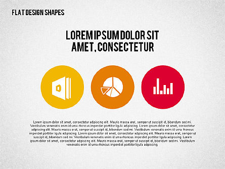 Presentation with Flat Design Shapes and Icons, Slide 2, 02086, Presentation Templates — PoweredTemplate.com