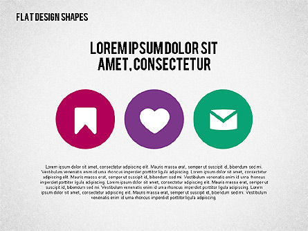 Presentation with Flat Design Shapes and Icons, Slide 4, 02086, Presentation Templates — PoweredTemplate.com