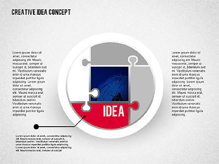 Idea Development Stages, 02088, Stage Diagrams — PoweredTemplate.com