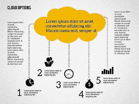 Cloud Options Diagram, Slide 2, 02090, Business Models — PoweredTemplate.com